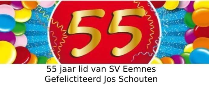 Club icoon Jos Schouten 55 jaar lid van SV Eemnes